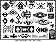 Aztec Native Navajo design elements vector set by Emre Tarimcioglu, via Shutterstock
