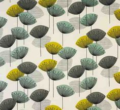 Textiles: recently, Sanderson has issued a ubiquitous pattern 'Dandelion Clocks' which nods perhaps at Orla Kiely and Lucienne Day.