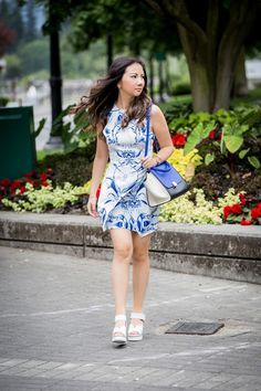 Valentina and Aveline: Summer Look :: White And Blue
