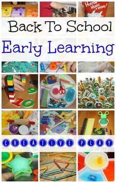 Early Learning Play for Preschool Back To School Activities