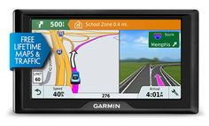 "The Garmin Drive 61LMT is an entry level 6"" GPS navigator with fatigue warnings, driver alerts and a built-in Trip Planner for all your travel needs. Read the full Garmin Drive 61LMT review. #garmindrive #garmindrive61lmt #garmin #gps #garmingps"
