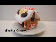 Casa di marzapane in pasta polimerica (gingerbread house in polymer clay) [sub-eng] - YouTube