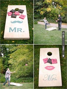 corn hole toss | VIA #WEDDINGPINS.NET