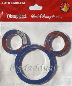 Disney Mickey Mouse Ears Icon Car Auto Emblem Decal | eBay