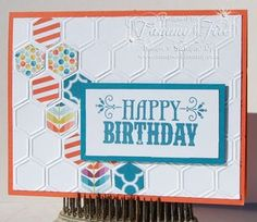honeycomb embossing folder cards - Google Search