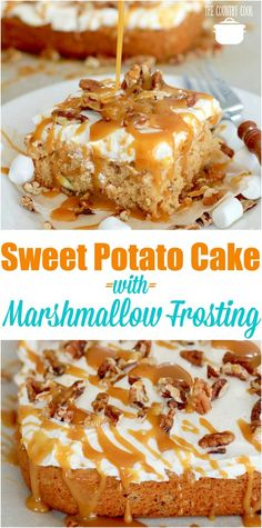 Easy Sweet Potato Cake with Marshmallow Frosting recipe from The Country Cook