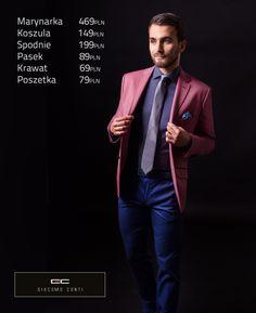 Stylizacja casualowa Giacomo Conti: marynarka Enrico 14/40 OM, koszula Riccardo 14/02/60, niebieskie spodnie Domenico 14/10 T. #giacomoconti