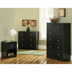 Gentil 3 Pc Bedroom Set Dresser Chest Of Drawers Night Stand Sets Furniture College