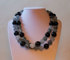 Cool gray and black necklace
