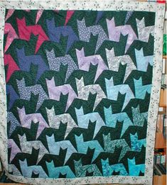 Tesselating cats quilt :)