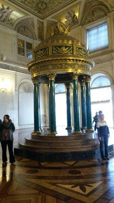 Interior do Museu Hermitage em São Petersburgo  (Rússia )
