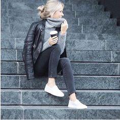 Beautiful Fredrika in cosy knit @fakander  via @inspocafe