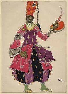 Costume by Leon Bakst for Scheherazade, 1910