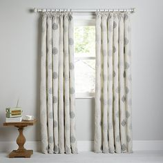 af207fb10e06 John Lewis & Partners Mini Olive Trees Pair Lined Pencil Pleat Curtains,  Duck Egg