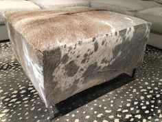 Relax and Have Fun Kids Storage Ottoman — Bigjohns Tavern Furniture Cowhide Furniture, Cowhide Ottoman, Black Ottoman, Fabric Ottoman, Tufted Ottoman, Leather Ottoman, Round Ottoman, Chair And Ottoman, Ottoman Inspiration