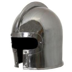 Hand-crafted 15th Century Italian Barbute Steel Replica Helmet