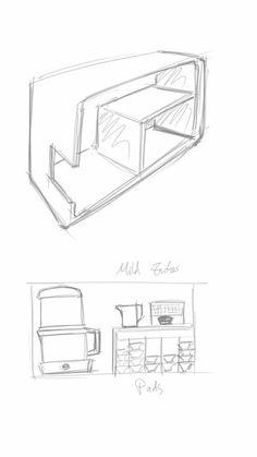 Kaffeekiste Eine Kiste, in der alle wichtigen Dinge für das Kaffeekochen verstaut werden können. Sprich Kaffeemaschine, -Kanne, Pads, MIlchkännchen, etc.