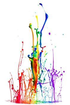 rainbow splash of colour - Google Search