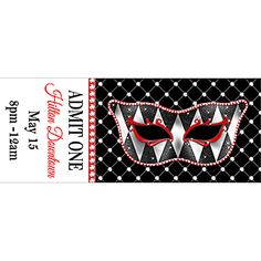 Harlequin Mask and Bling Tickets design 3690 buy 1-50 for .99 each