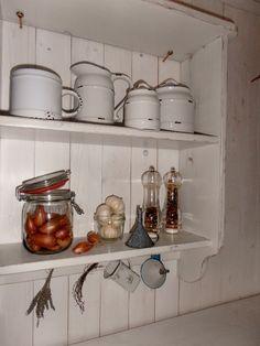 Küchenregal XL Regal Gewürzregal Holz Shabby Chic von Schaut-her-und-mehr auf DaWanda.com