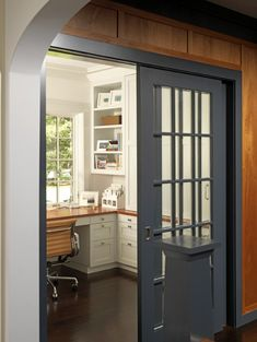 Office off the kitchen (with a window). This would allow you to multi-task, if you wanted.