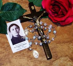 Unbreakable Traditional Chaplet of St. Gemma Galgani - Patron Saint of Students, Pharmacists and Against Lung Disease by foodforthesoul on Etsy