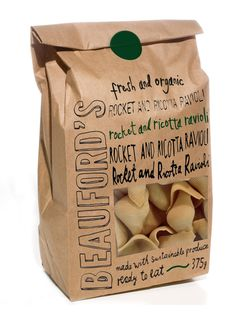 Beauford's Pasta Packaging Design by Sophie Durston