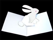Step 23:  Your White Rabbit is finished!   Decorate with crayons, colored pencils or markers.