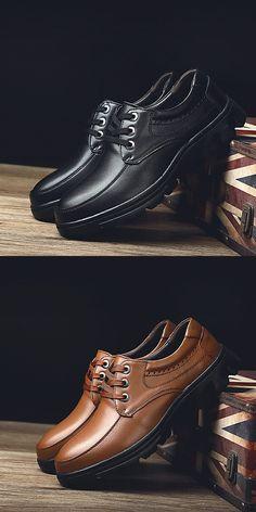 cf1e800b54add Big Size Men Formal Shoes Gentleman Oxford Brogue Party Lace Up Design High  Quality Thick Platform