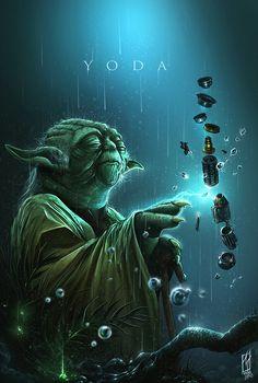 Yoda, Shane Molina on ArtStation at https://www.artstation.com/artwork/QRX1d