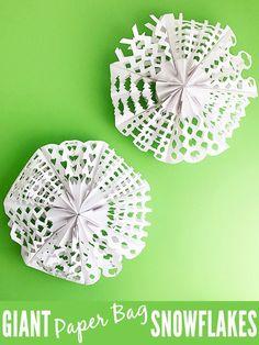 GIANT Paper Bag Snowflakes