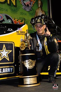 "Tony ""The Sarge"" Schumacher wins the 2014 National Championship in the Army T/F Dragster with crew & Team by his side!"
