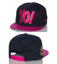 MTV Raps edition snapback cap Adjustable strap on back of hat Embroidered  YO! logo on front Tiger print brim Logo side stitching Black base 0aa0cf35a2707