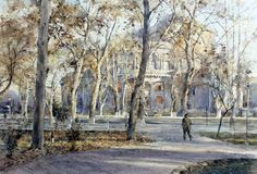 Peto Poghosyan The place, 29x43 cm, watercolor on paper, 2014
