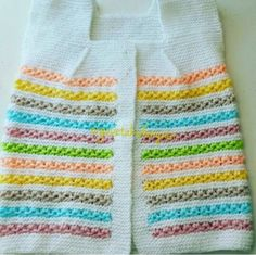 Rainbow Angel Top Knitting For Kids, Free Knitting, Baby Knitting, Free Crochet, Knitting Patterns, Crochet Patterns, Baby Cardigan, Baby Sweaters, Hello Everyone