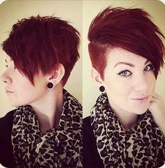 One Side Shaved Pixie Hairstyles 2015