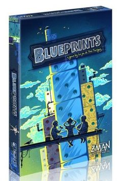 Blueprints Board Game Z-Man Games Board Games For Couples, Couple Games, Family Games, Man Games, Games Box, Board Game Box, Game Room Kids, Sports Games For Kids, Light Games