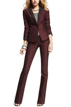 The New Fall Suit: 16 Ultra-Chic Options  (Express Twill Jacket, $138; Twill Pant, $79.90; both available at Express.)