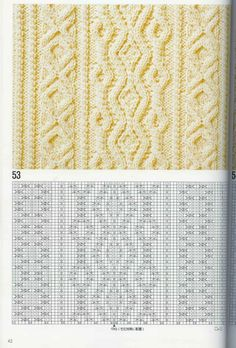 "Photo from album ""Узоры спицами on Yandex. Cable Knitting Patterns, Knitting Stiches, Knitting Charts, Loom Patterns, Lace Knitting, Knitting Designs, Crochet Stitches, Stitch Patterns, Crochet Patterns"