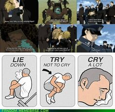 Full Metal Alchemist: Brotherhood When the Brigadier General died, it would take a heartless to not shed a tear.