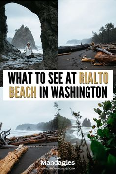 Rialto Beach in Washington state has it all - secret caves, tide pools, driftwood beaches, camping opportunities - the list goes on! Click here to discover some of the best Washington beach hiking trails in the Olympic National Park! #washington #olympicnationalpark #pnw #pacificnorthwest Washington Beaches, Washington State, Pacific Coast, Pacific Northwest, Rialto Beach, Driftwood Beach, Tide Pools, Olympic Peninsula, Caves