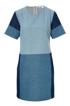 Patchwork Denim Dress detail 0