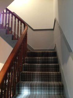 Home Depot Carpet Runners Vinyl - Best Carpet İdeas Grey Tartan Carpet, Tartan Stair Carpet, Grey Carpet, Stairway Carpet, Hall Carpet, Rugs On Carpet, Carpets, Tartan Decor, Tartan Plaid
