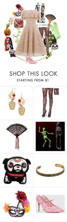 """""""10302017-Halloween Eve's Wedding"""" by nanniehatter ❤ liked on Polyvore featuring BaubleBar, Alex and Ani, Gucci, Lauren Conrad and lastminutecostume"""