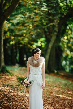 Esme by Jenny Packham for an Elegant Autumn Wedding in Ireland