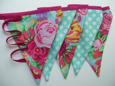 fabric banner-love these colors