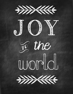 Get this FREE Christmas printable : Joy to the World printable + a few more. Great for simple Christmas decor!