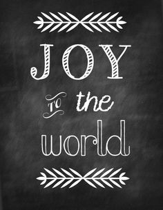 Get this FREE Christmas printable : Joy to the World printable + a few more. Great for simple Christmas decor!