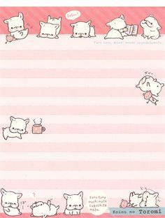 San-X Koinu No Toromi Letter Set by Crazy Sugarbunny, via Flickr