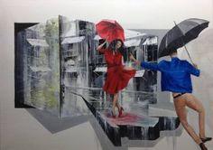 "Saatchi Art Artist Eka Peradze; Painting, ""romance. #97 50x70cm"" #art"
